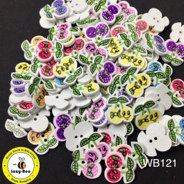 WB121: Cheery Wood Button 20mm, 50 pieces [ C14 ]