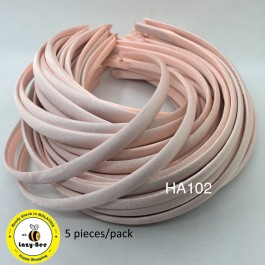 HA102: Petal Peach: Kids Headband 10mm, 5 pieces
