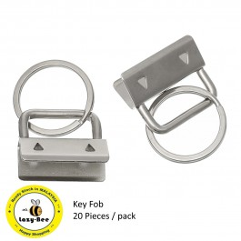 MC800: Silver Key Fob 24x26.5x12mm, 20 pieces