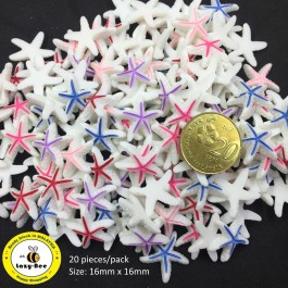 SA736: Starfish Resin 16x16mm, 20 pieces [ A1 ]