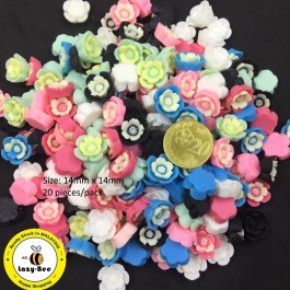 SA737: Flower Resin 14x14mm, 20 pieces [ A1 ]