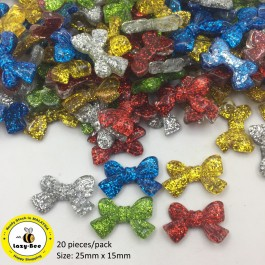 SA739: Bowknot Resin 25x15mm, 20 pieces [ A12 ]