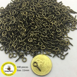 MC803: Bronze Eye Screws 11mm, 100 pieces [ Z1 ]