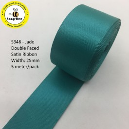 S346-25: JADE: Double Faced Satin Ribbon 25mm, 5Meter