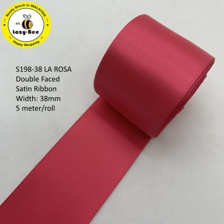 S198 LA ROSA: 5 meter Double Faced Satin Ribbon Wedding DIY Craft Bow knot Perkahwinan Borong Balut Reben