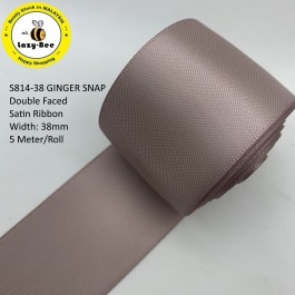 S814-38: GINGER SNAP: Double Faced Satin Ribbon 38mm, 5Meter