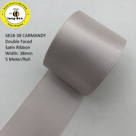 S818-38: CARMANDY: Double Faced Satin Ribbon 38mm, 5Meter