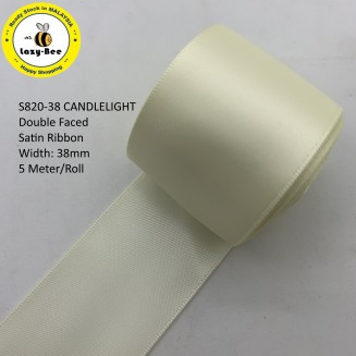 S820-38: CANDLELIGHT: Double Faced Satin Ribbon 38mm, 5Meter