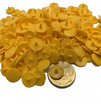 KM285: SUNSET YELLOW B10: T3 [10.3mm] KAM Glossy Snap Button Fastener DIY Clothing Button , 50 Sets [ L8 ]
