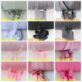 5 meter per Colour 15mm Plain Colour FOE Fold Over Elastic Ribbon DIY Baby Headband Hair Tie Webbing Sewing Craft