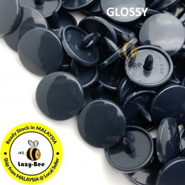 KM276: B2 DARK NAVY 50 Sets (200 pcs) T3 T5 KAM Snap Button Plastic Fastener DIY Sewing Craft Baby cloth GLOSSY / MATTE