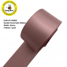 S146-25: CAMEO: Double Faced Satin Ribbon 25mm, 5Meter
