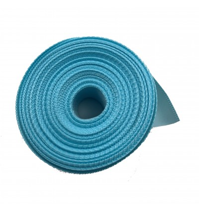 S322-25: OCEAN BLUE: Double Faced Satin Ribbon 25mm, 5Meter