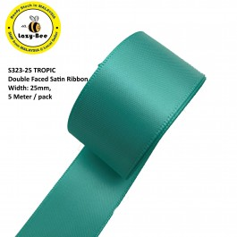 S323-25: TROPIC: Double Faced Satin Ribbon 25mm, 5Meter