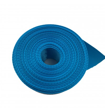S325-25: VIVID BLUE: Double Faced Satin Ribbon 25mm, 5Meter