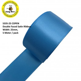 S335-25: COPEN: Double Faced Satin Ribbon 25mm, 5Meter