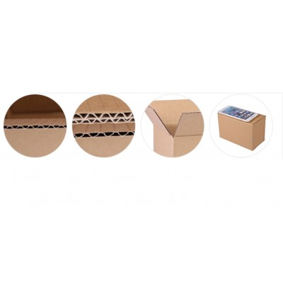 PC188: 8th (210x110x140mm) 5 pieces Corrugated Cardboard Shipping Boxes Mailing Moving Packing Carton Box Kotak