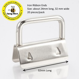 MC836: Iron Ribbon Ends 24x32x10.5mm, 20 pieces [ C12 ]