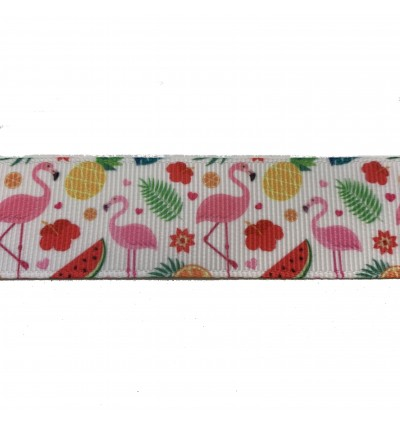 RB363: Flamingo: Grosgrain Ribbon 25mm, 5 Meter