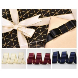 5 meter Gold Trim Double Faced Satin Ribbon DIY Craft Gift Hair Bow