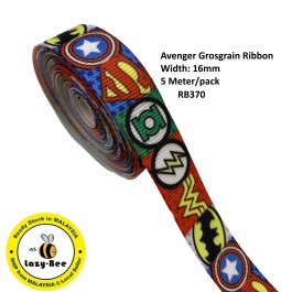 RB370: Avenger: Grosgrain Ribbon 16mm, 5 Meter