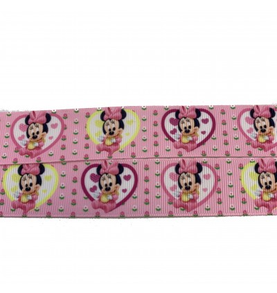 RB374: Minnie Mouse: Grosgrain Ribbon 25mm, 5 Meter