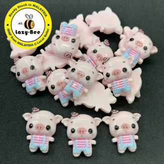 SA765: 5 pieces Cute Pig Resin 20x28mm [ C2 ]