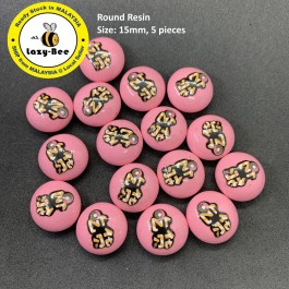SA767: 5 pieces Round Resin 15mm [ Z14 ]