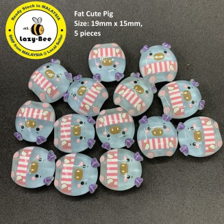 SA769: 5 pieces Fat Cute Pig Resin 19x15mm [ Z38 ]