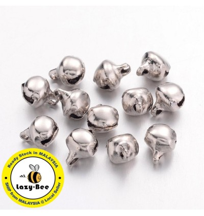 MC810: 50 pieces Platinum Iron Bell Charms 8x6mm [ A4 ]