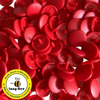 KM374: CRIMSON B54: Matte T5 KAM Snap Button, 50 sets [ K15 ]
