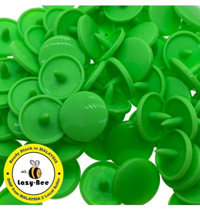 KM349: LIME GREEN B50: T5 KAM Glossy Snap Button, 50 sets