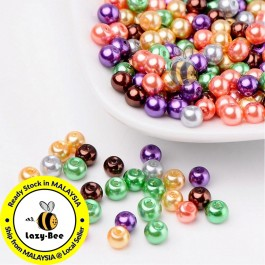 BC112: Halloween Mix Pearlized Glass Pearl Beads 4mm, about 400 pieces