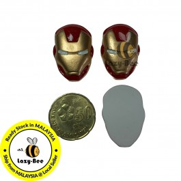 SA812: 10 pieces Ironman Avengers Superhero Resin 20x29mm [ B6 ]