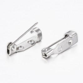 MC792: 304 Stainless Steel Back Bar Pins 17mm, 10 pieces [ B9 ]
