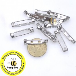 MC797: 304 Stainless Steel Pin Brooch Back Bar 26mm, 10 pieces [ A11 ]
