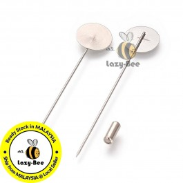 MC798: 10 pieces 77x15mm Stainless Steel Brooch Findings DIY Craft [ B12 ]