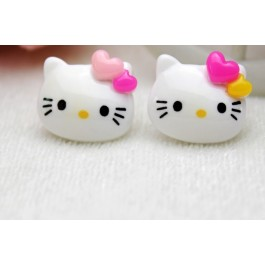 SA817: 20 pieces Hello Kitty With Love Kawaii DIY craft Resin Cabochons 18x15mm [ A17 ]