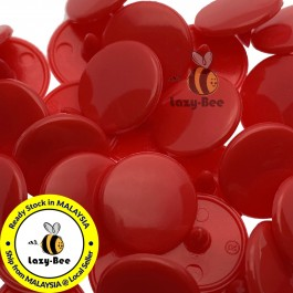 KM343: DEEP RED B38: T3 (10.3mm) KAM Glossy Snap Button, 50 sets [ K16 ]