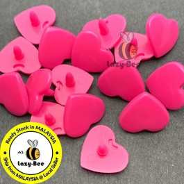 KM305: NEON PINK B47: HEART Shape KAM Glossy Snap Button, 50 sets [ L11 ]
