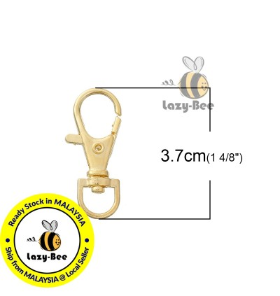 B0086000: 10 pieces Iron Based Alloy Key chain & Key ring Swivel Clasp Gold Plated 37x15mm [ B6 ]