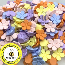 SA850: 20 pieces Flower Resin Cabochons DIY Craft Jewelry making Brooch Scrapbook 18mm [ C2 ]