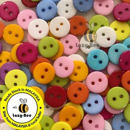 WB142: 200 pieces 11mm Candy Colorful Resin Button Flat Round 2-Hole Button DIY Scrapbook garment accessories Sewing Craft [ A22 ]