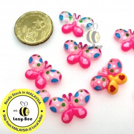 SA803: 10 pieces 21x13mm Butterfly Resin Cabochons DIY Craft Kids Baby Brooch Keychain Scrapbook [ P1 ]