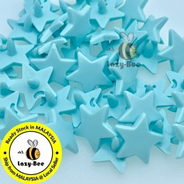 KM333: POOL BLUE B59: 50 sets STAR Shape KAM Glossy Snap Button Plastic Snap Button Fastener DIY Clothing Button [ L11 ]