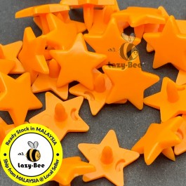KM339: PUMPKIN B40: 50 sets STAR Shape KAM Glossy Snap Button Plastic Snap Button Fastener DIY Clothing Button [ L9 ]
