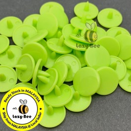 KM344: APPLE GREEN B44: 50 sets  T3 (10.3mm dia.) KAM Glossy Snap Button Plastic Snap Button Fastener DIY Clothing Button [ L12 ]