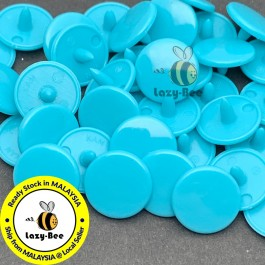 KM346: TEAL B46: 50 sets  T3 (10.3mm dia.) KAM Glossy Snap Button Plastic Snap Button Fastener DIY Clothing Button [ L9 ]