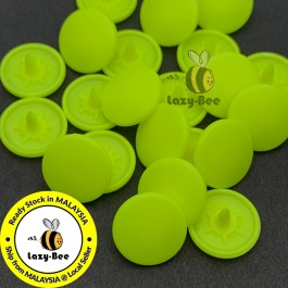 KM362: NEON YELLOW B36: 50 sets Matte T5 (12.4mm Dia.) KAM Snap Button Plastic Snap Button Fastener DIY Clothing Button [ L11 ]