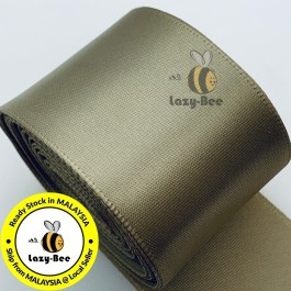 A836-38 Candied Ginger: 5 Meter 38mm Single Faced Satin Ribbon